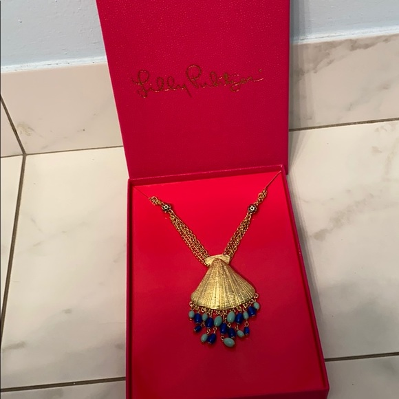 Lilly Pulitzer Bombshell Long Statement Necklace